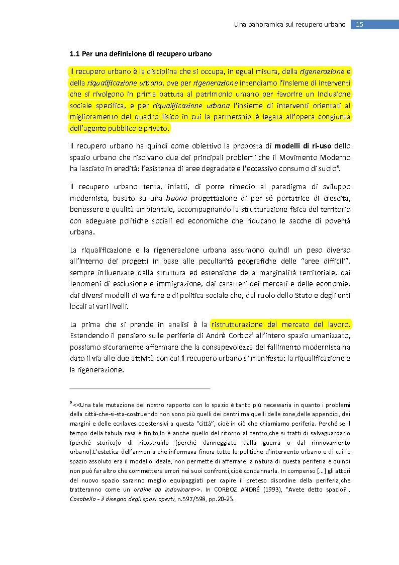 Anteprima della tesi: La trasformazione della città mediterranea. Aspetti innovativi del recupero., Pagina 7