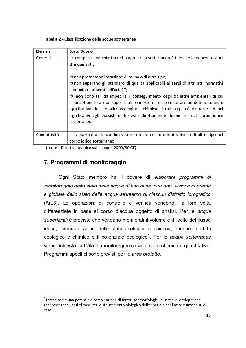 Anteprima della tesi: La Direttiva Quadro 2000/60 Ce e il Bacino scolante nella Laguna di Venezia: un approccio all'analisi costi - efficacia, Pagina 10