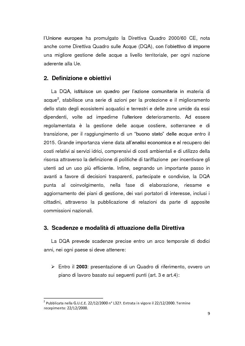 Anteprima della tesi: La Direttiva Quadro 2000/60 Ce e il Bacino scolante nella Laguna di Venezia: un approccio all'analisi costi - efficacia, Pagina 4