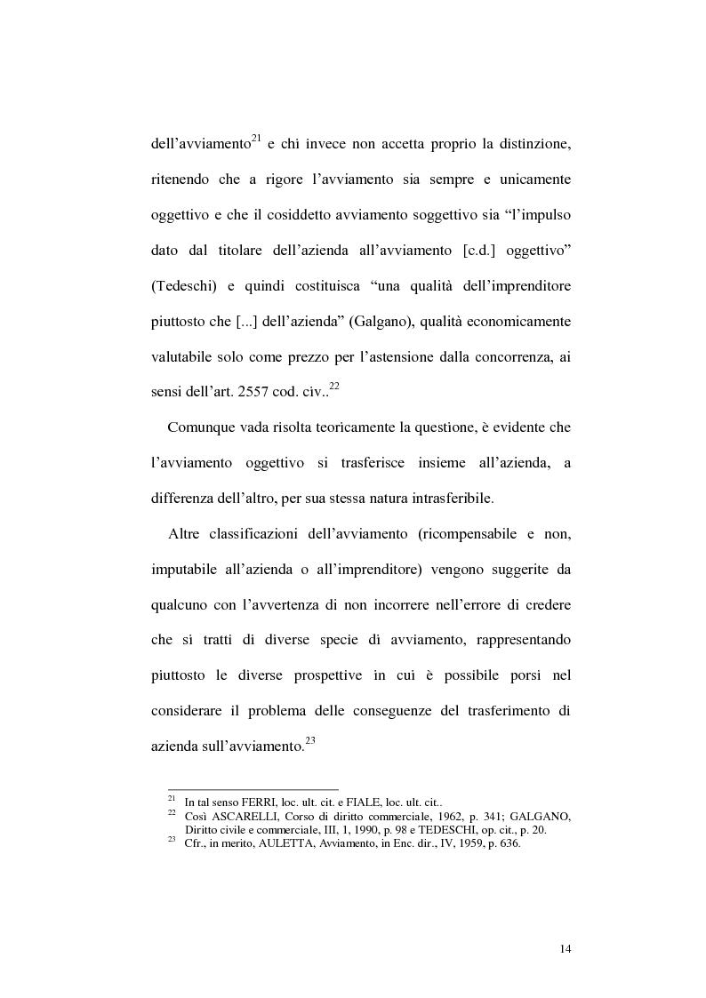 Anteprima della tesi: Circolazione dell'azienda e divieto di concorrenza nella giurisprudenza, Pagina 10