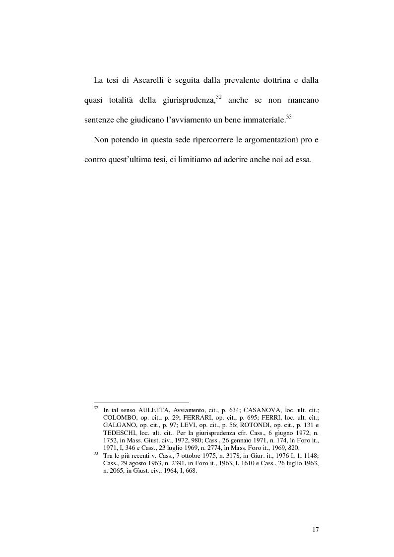 Anteprima della tesi: Circolazione dell'azienda e divieto di concorrenza nella giurisprudenza, Pagina 13