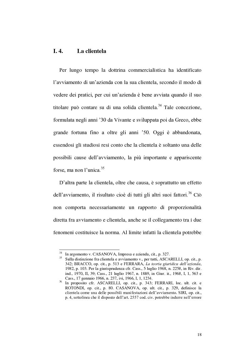 Anteprima della tesi: Circolazione dell'azienda e divieto di concorrenza nella giurisprudenza, Pagina 14