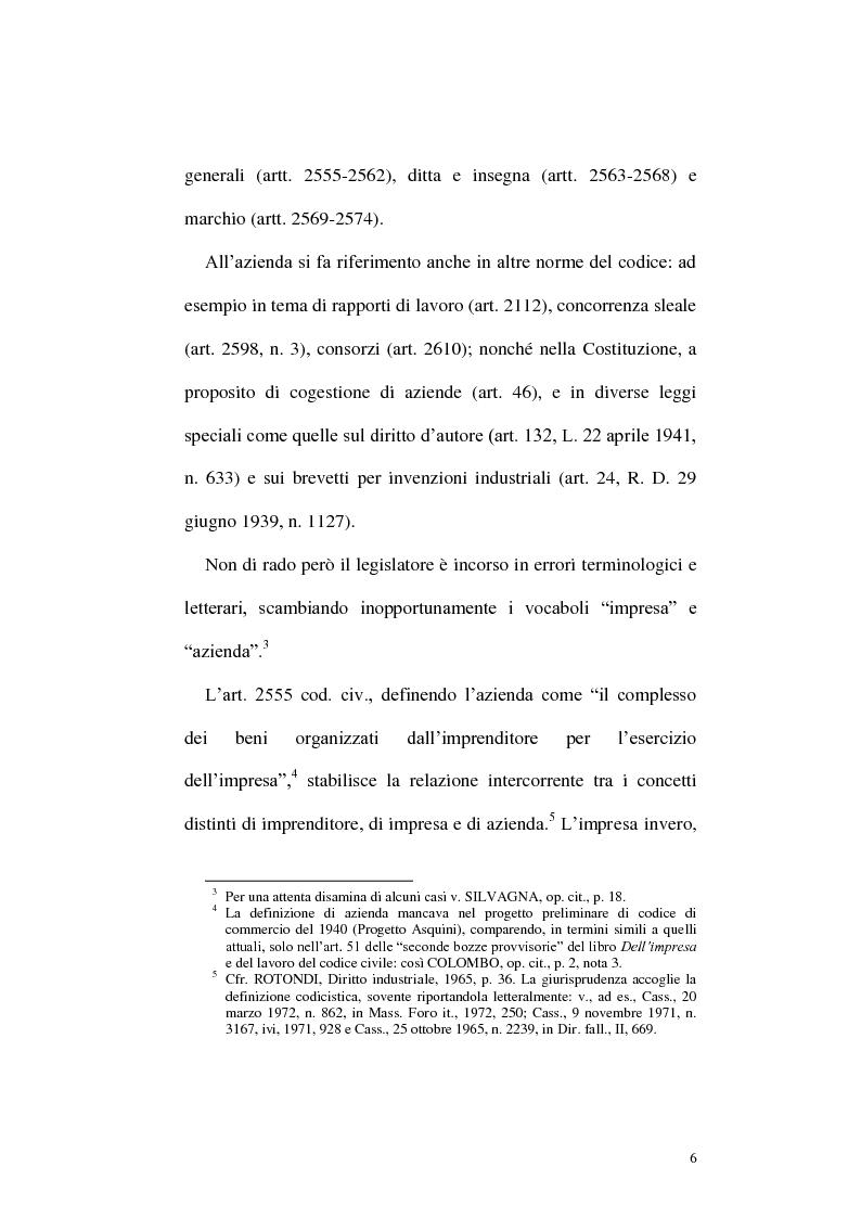 Anteprima della tesi: Circolazione dell'azienda e divieto di concorrenza nella giurisprudenza, Pagina 2
