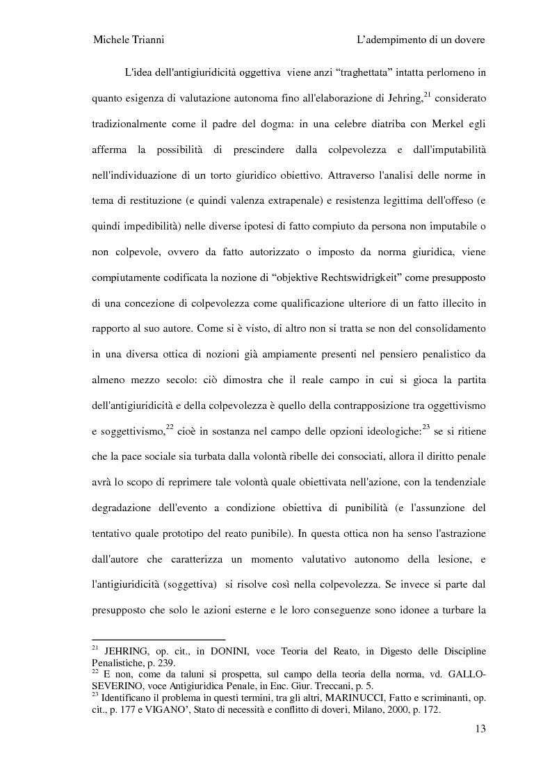 Anteprima della tesi: L'adempimento del dovere tra natura giuridica e profili internazionalistici, Pagina 10