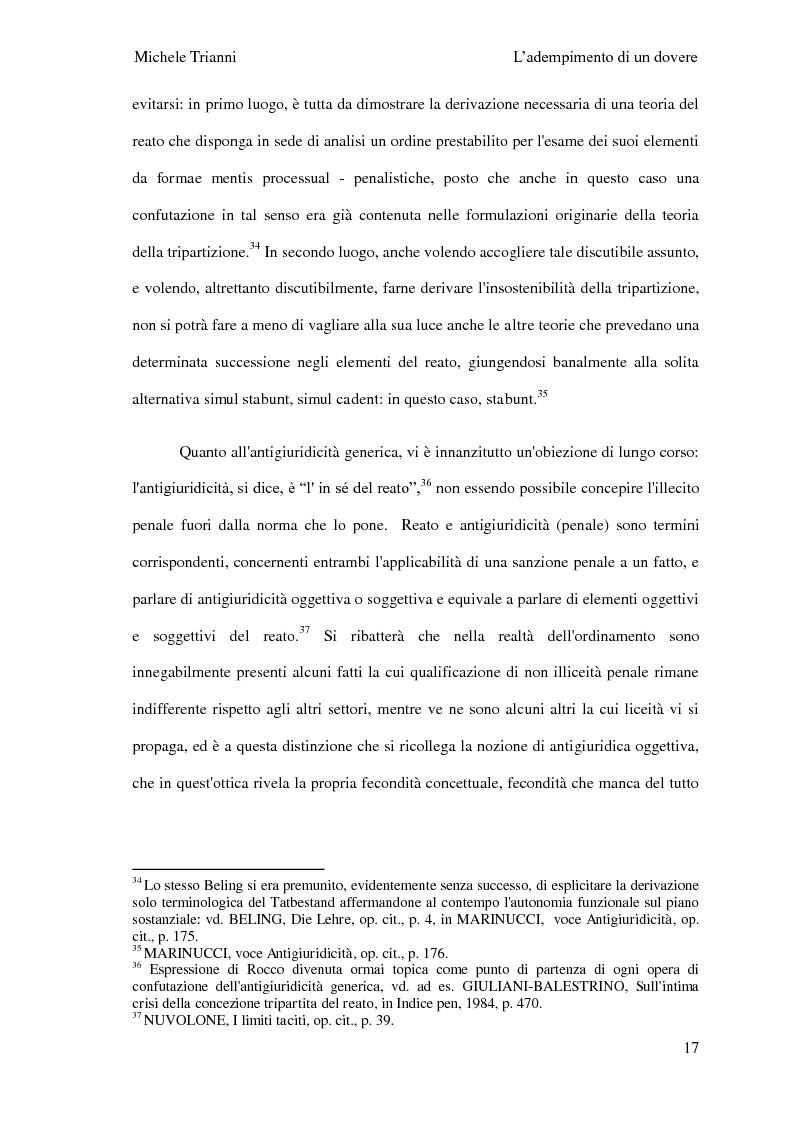 Anteprima della tesi: L'adempimento del dovere tra natura giuridica e profili internazionalistici, Pagina 14