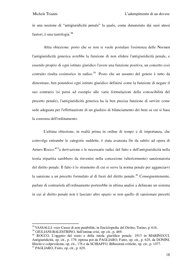 Anteprima della tesi: L'adempimento del dovere tra natura giuridica e profili internazionalistici, Pagina 15