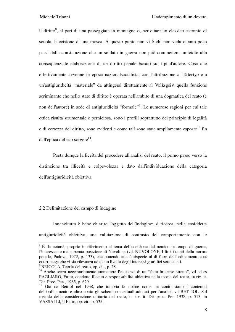 Anteprima della tesi: L'adempimento del dovere tra natura giuridica e profili internazionalistici, Pagina 5