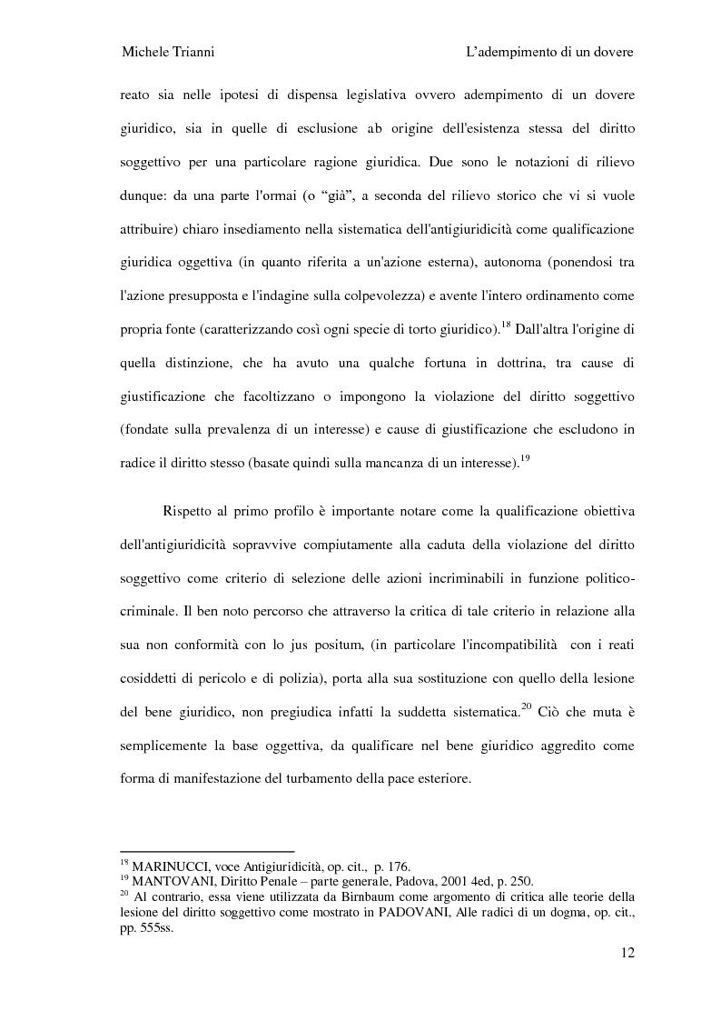 Anteprima della tesi: L'adempimento del dovere tra natura giuridica e profili internazionalistici, Pagina 9
