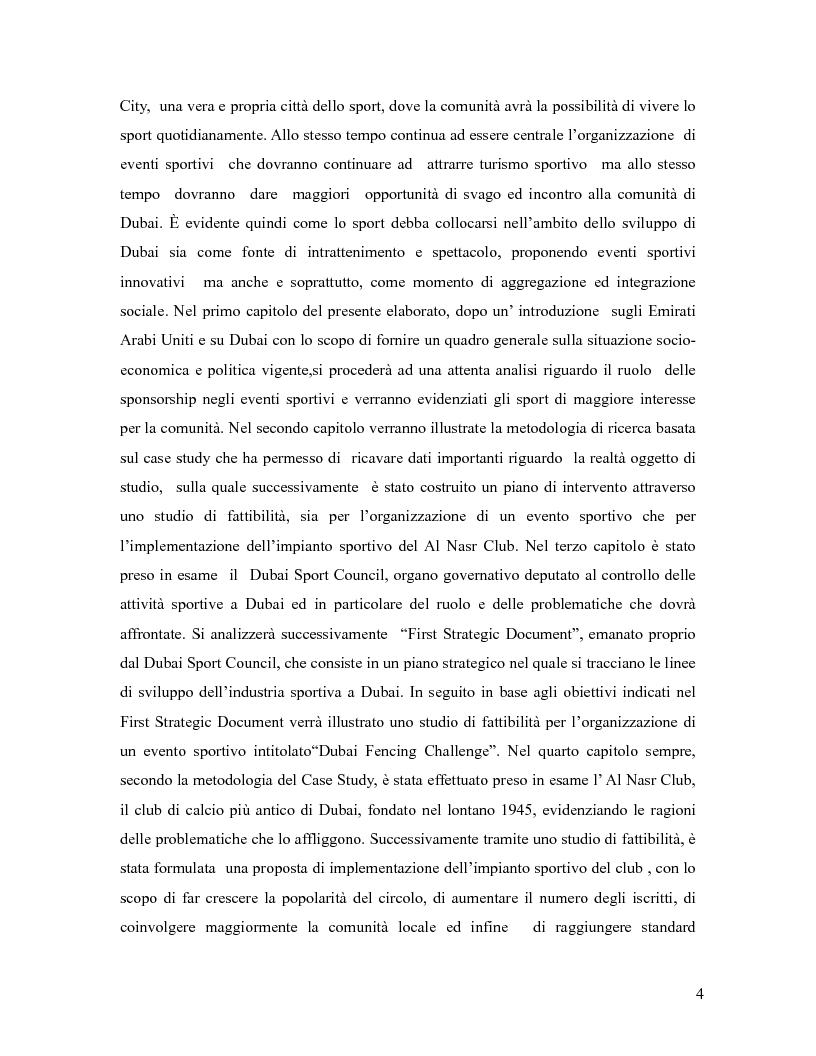 Anteprima della tesi: L'industria sportiva a Dubai e negli Emirati Arabi Uniti, Pagina 3