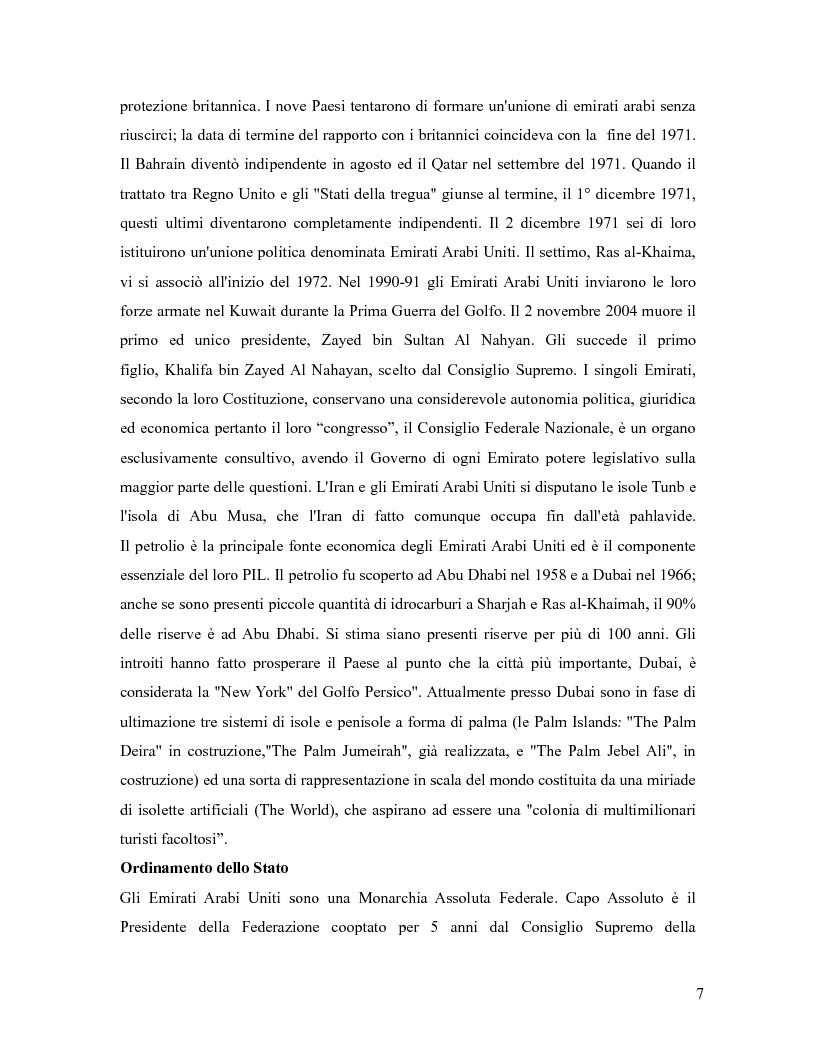 Anteprima della tesi: L'industria sportiva a Dubai e negli Emirati Arabi Uniti, Pagina 6