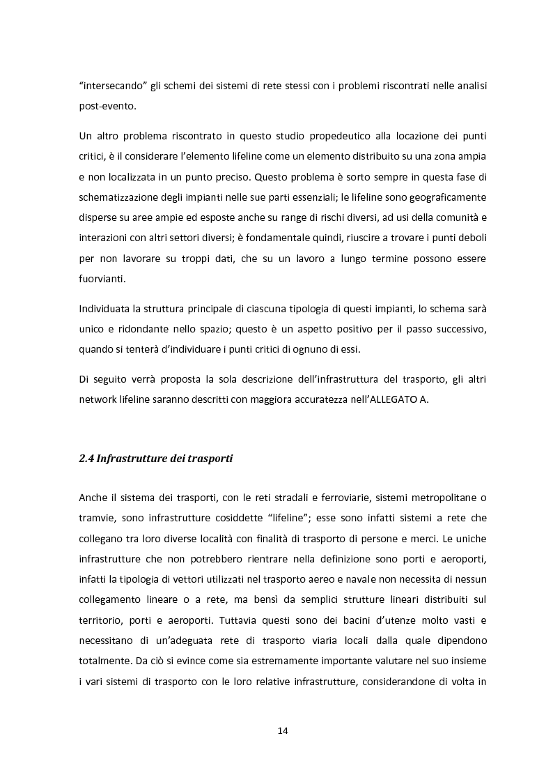 Anteprima della tesi: Analisi dei guasti applicata alla vulnerabilità sismica delle infrastrutture viarie, Pagina 10
