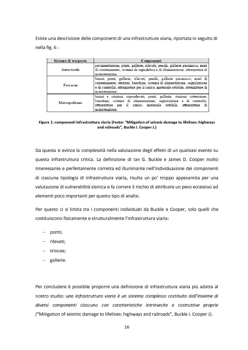 Anteprima della tesi: Analisi dei guasti applicata alla vulnerabilità sismica delle infrastrutture viarie, Pagina 12