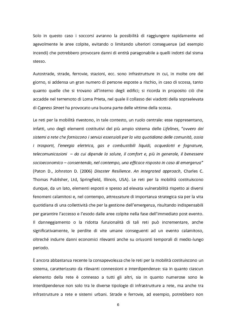 Anteprima della tesi: Analisi dei guasti applicata alla vulnerabilità sismica delle infrastrutture viarie, Pagina 2