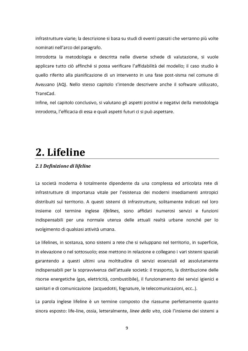 Anteprima della tesi: Analisi dei guasti applicata alla vulnerabilità sismica delle infrastrutture viarie, Pagina 5