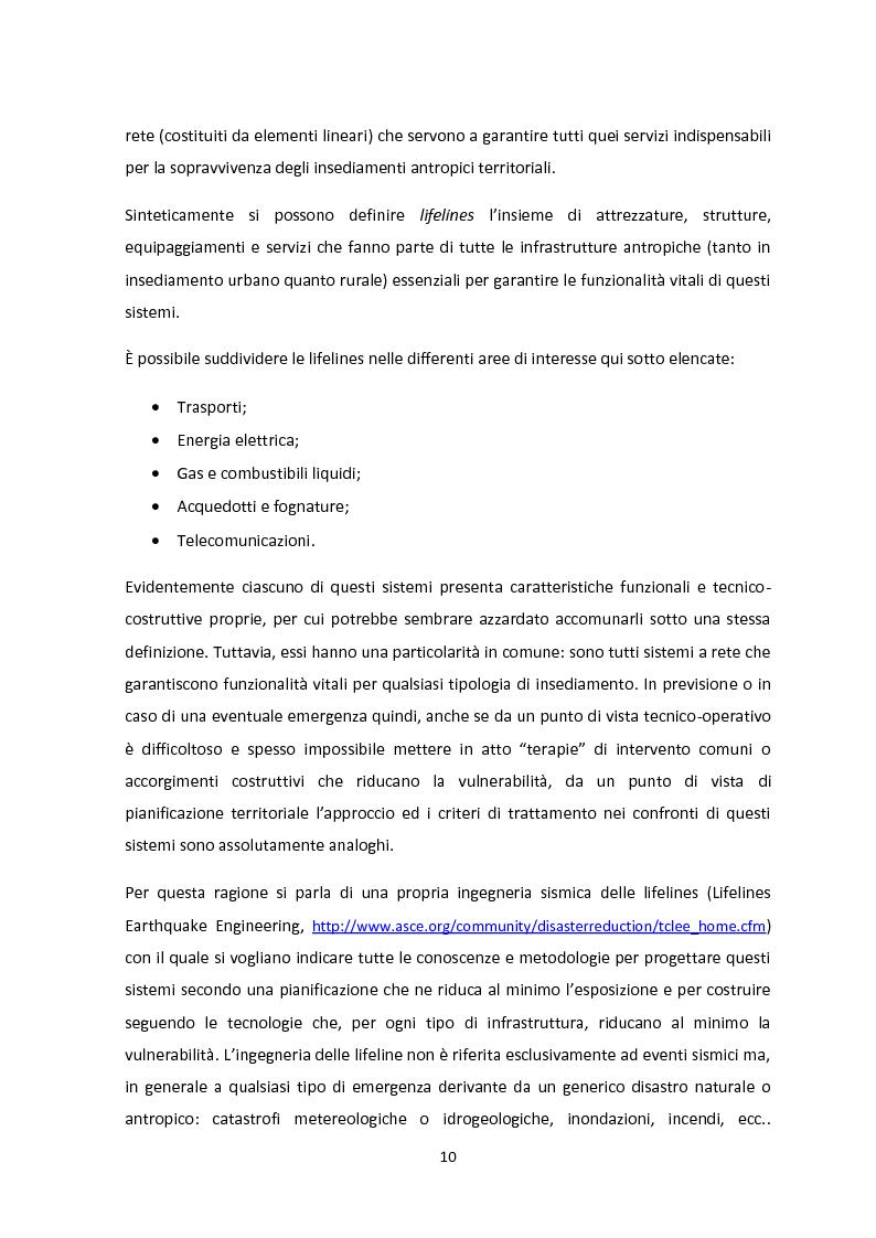 Anteprima della tesi: Analisi dei guasti applicata alla vulnerabilità sismica delle infrastrutture viarie, Pagina 6
