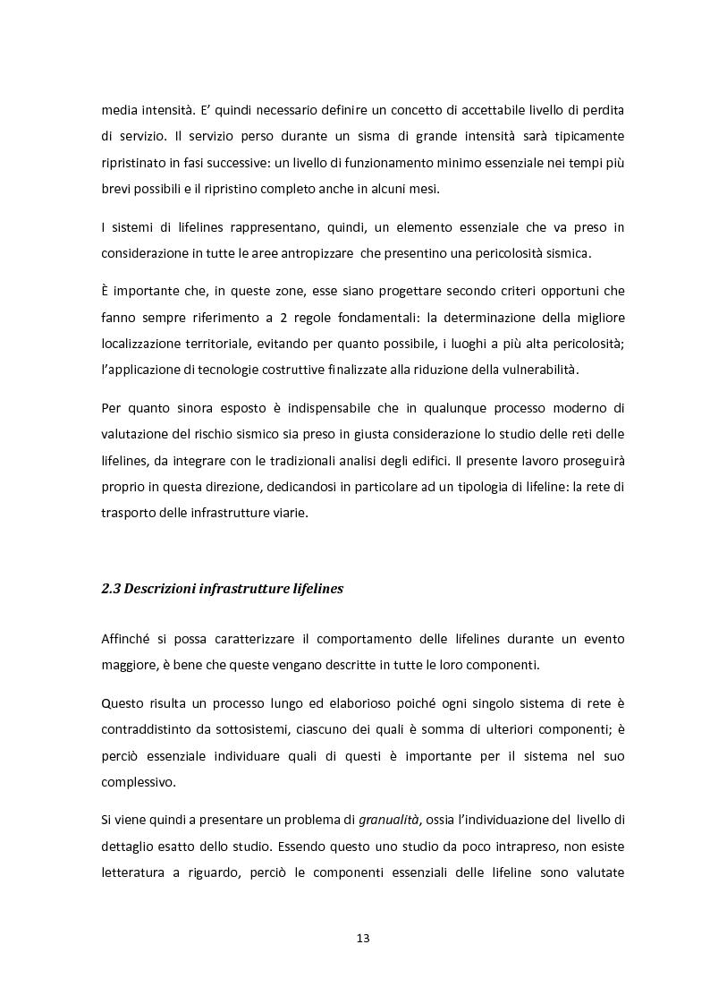 Anteprima della tesi: Analisi dei guasti applicata alla vulnerabilità sismica delle infrastrutture viarie, Pagina 9