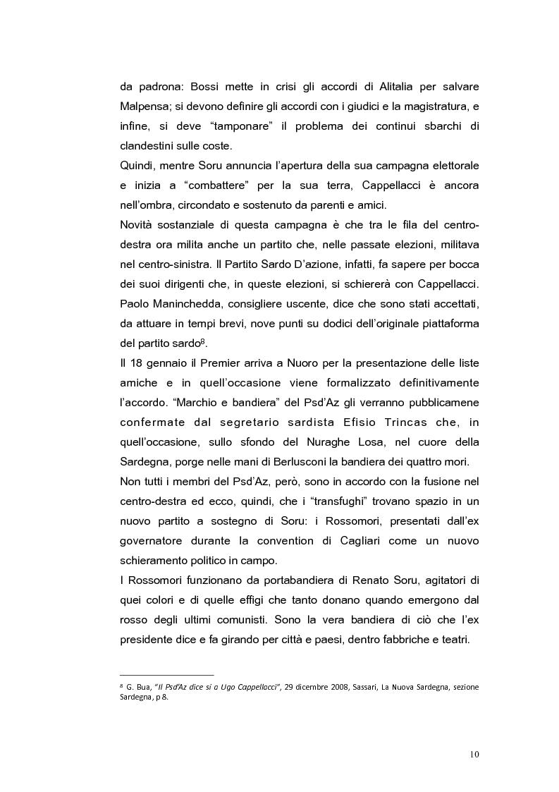 Anteprima della tesi: Elezioni regionali Sardegna 2009: analisi degli strumenti di comunicazione politica, Pagina 10