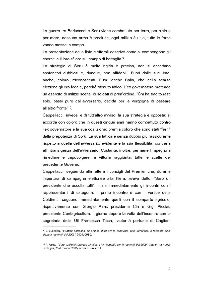 Anteprima della tesi: Elezioni regionali Sardegna 2009: analisi degli strumenti di comunicazione politica, Pagina 11