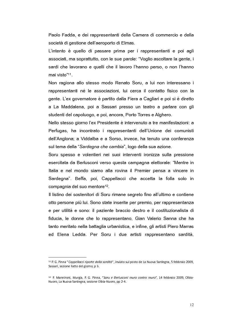 Anteprima della tesi: Elezioni regionali Sardegna 2009: analisi degli strumenti di comunicazione politica, Pagina 12
