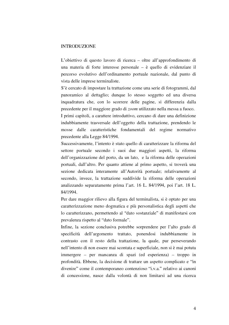 Anteprima della tesi: Il ruolo dell'impresa terminalista nell'ambito delle realtà portuali nazionali, Pagina 1