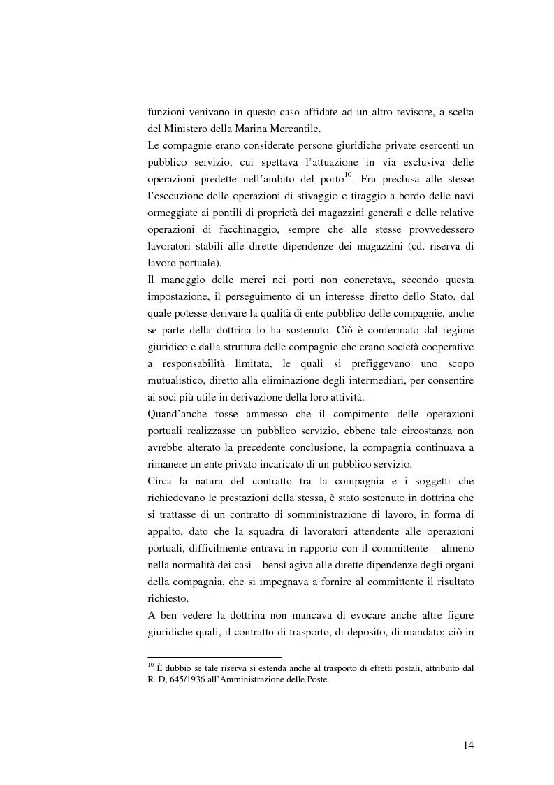 Anteprima della tesi: Il ruolo dell'impresa terminalista nell'ambito delle realtà portuali nazionali, Pagina 11
