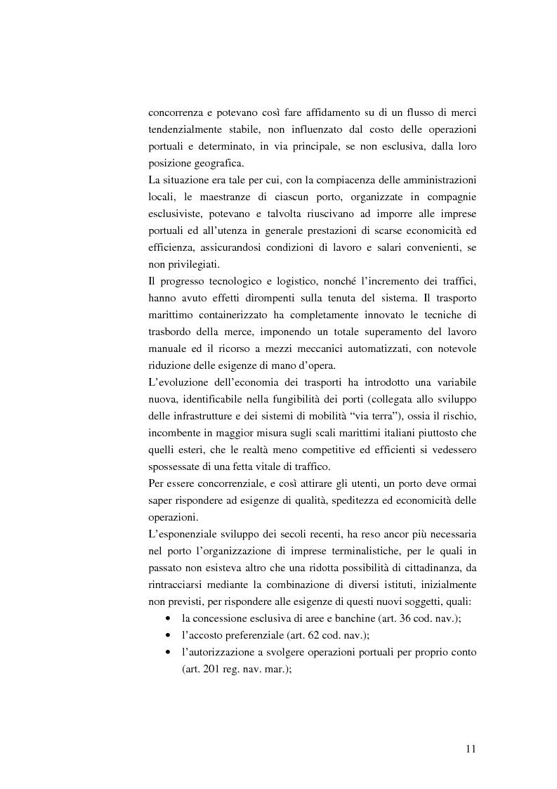 Anteprima della tesi: Il ruolo dell'impresa terminalista nell'ambito delle realtà portuali nazionali, Pagina 8