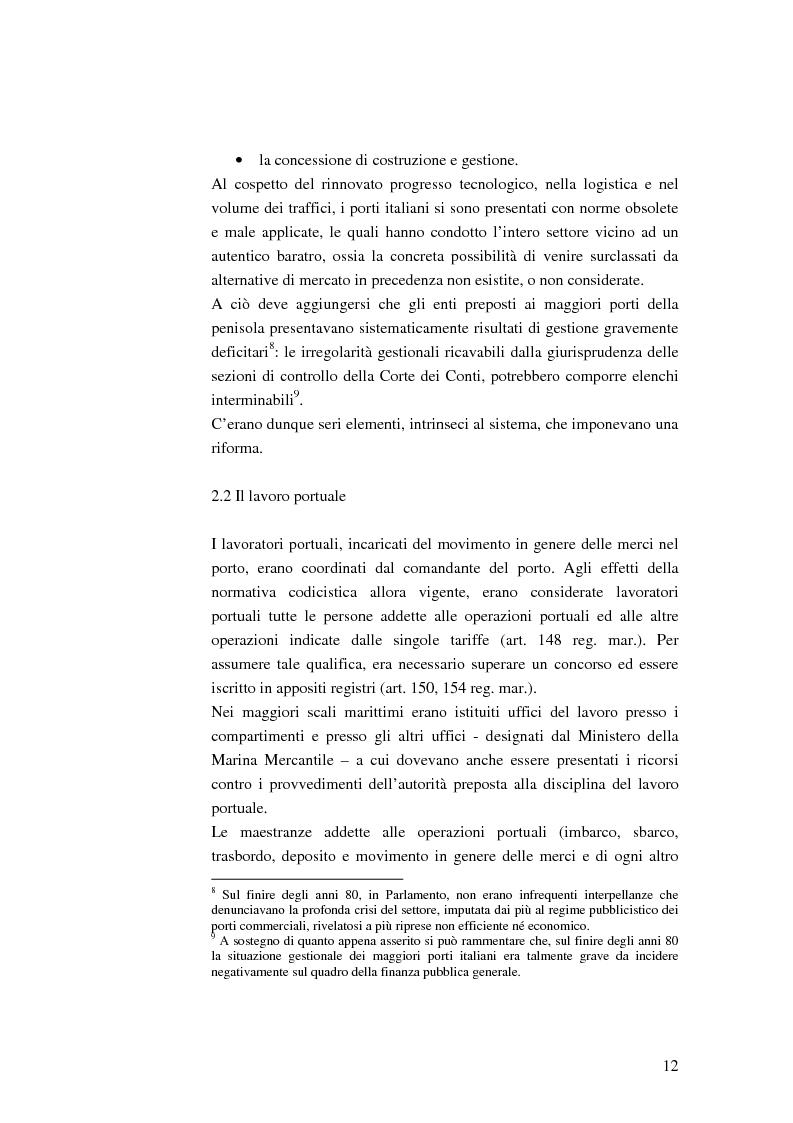 Anteprima della tesi: Il ruolo dell'impresa terminalista nell'ambito delle realtà portuali nazionali, Pagina 9