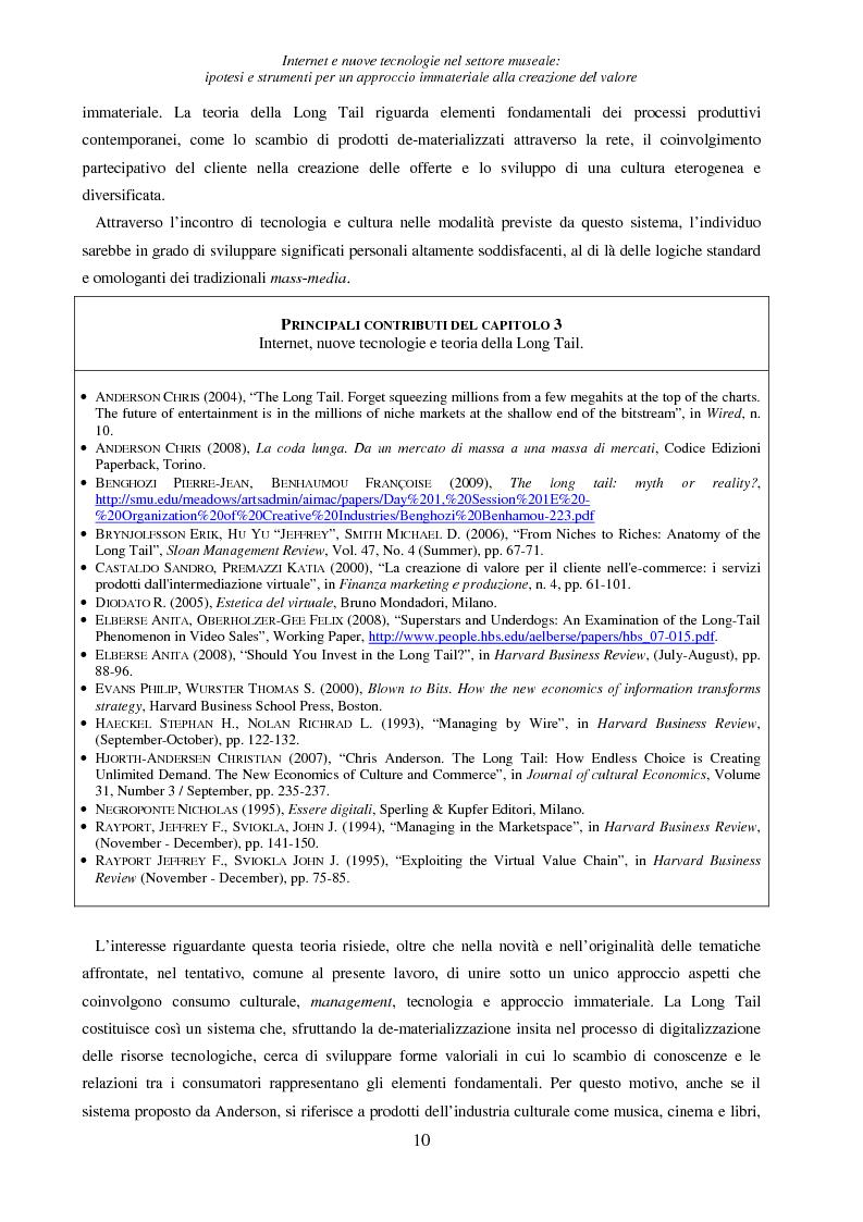 Anteprima della tesi: Internet e nuove tecnologie nel settore museale: ipotesi e strumenti per un approccio immateriale alla creazione del valore, Pagina 6
