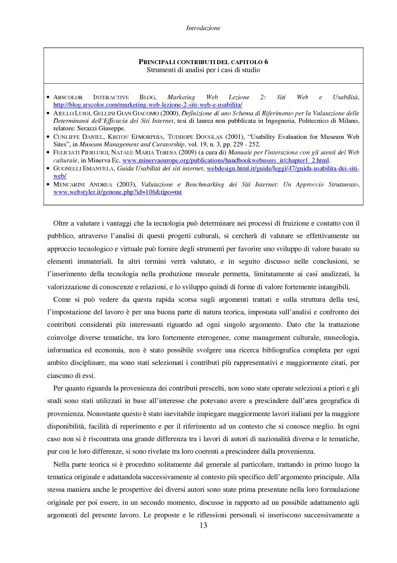 Anteprima della tesi: Internet e nuove tecnologie nel settore museale: ipotesi e strumenti per un approccio immateriale alla creazione del valore, Pagina 9