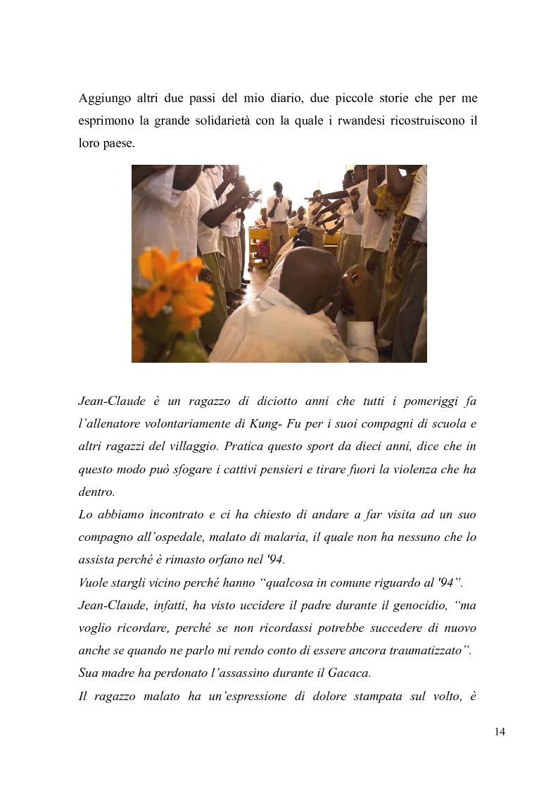 Anteprima della tesi: Voci e sguardi del Rwanda. Il genocidio tra distorsioni giornalistiche e rappresentazioni rwandesi., Pagina 12