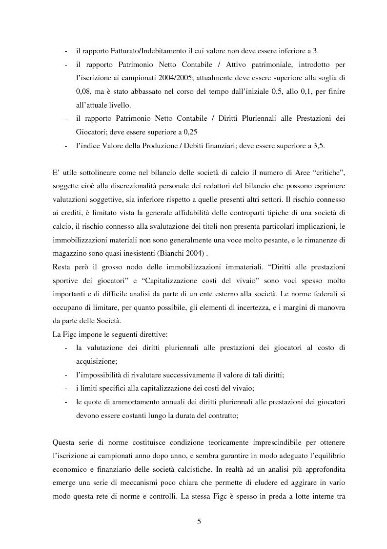 Anteprima della tesi: Il bilancio del pallone: frodi e contabilità creativa nel bilancio delle società di calcio, Pagina 3