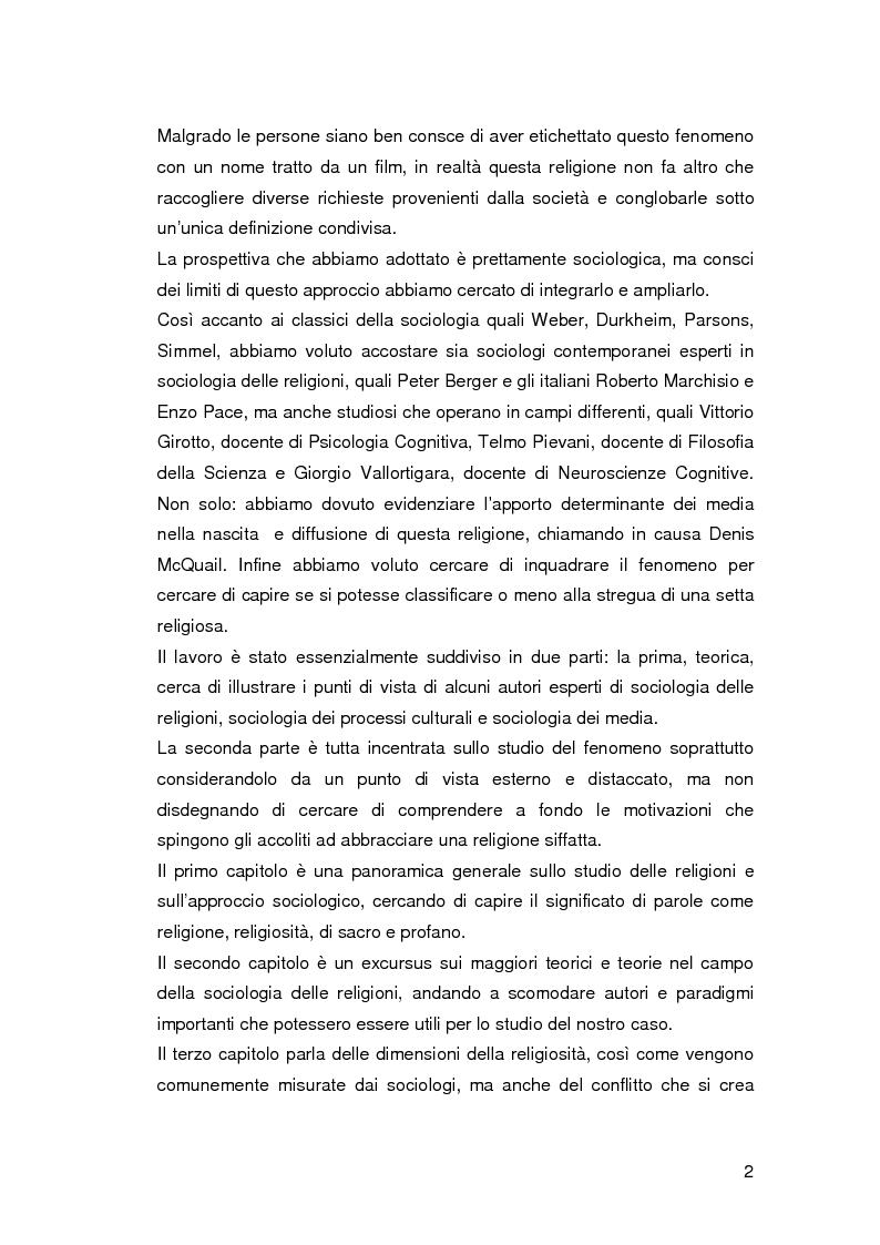 Anteprima della tesi: Jedismo. Sociologia di una religione nata al cinema., Pagina 2