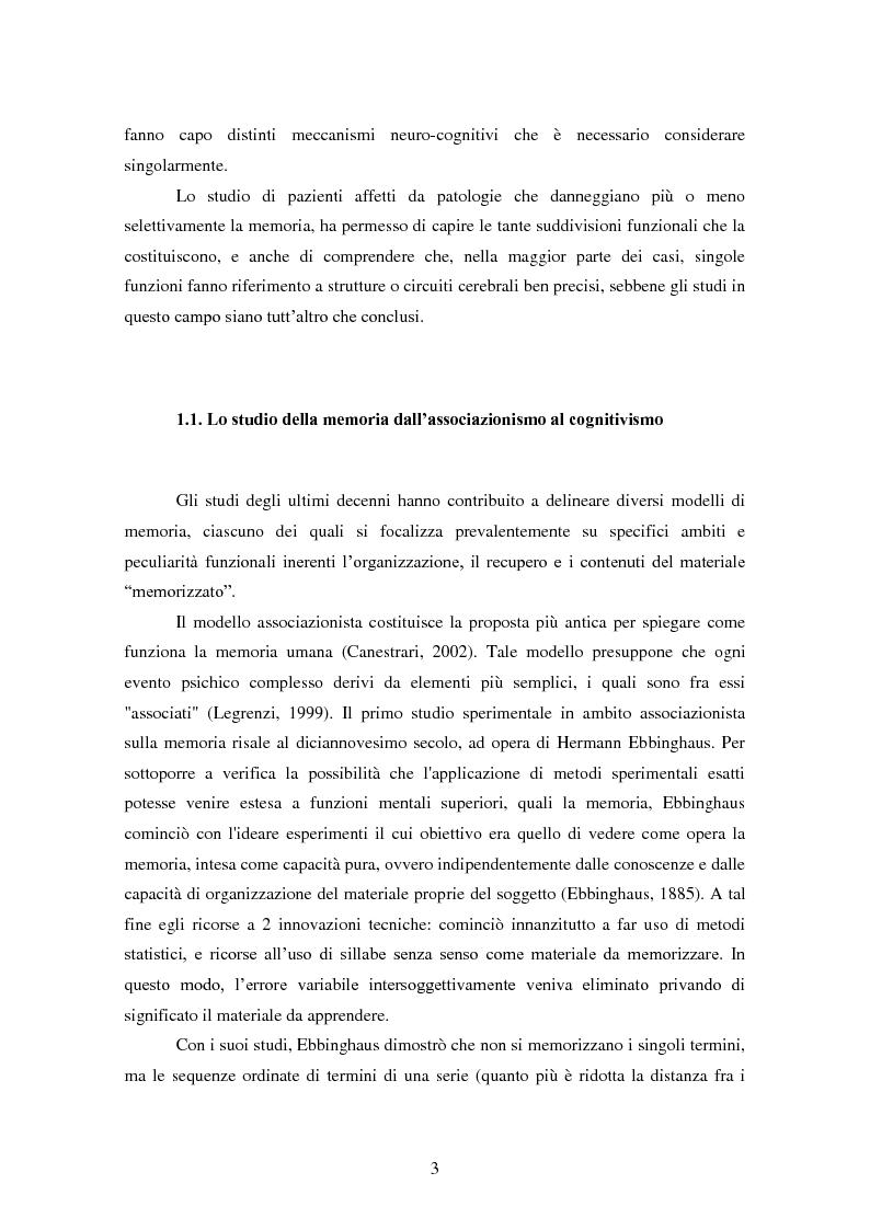 Anteprima della tesi: Memoria e deformazione dei ricordi nel disturbo post-traumatico da stress, Pagina 2