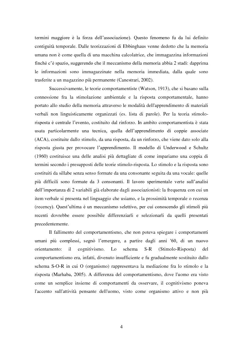 Anteprima della tesi: Memoria e deformazione dei ricordi nel disturbo post-traumatico da stress, Pagina 3