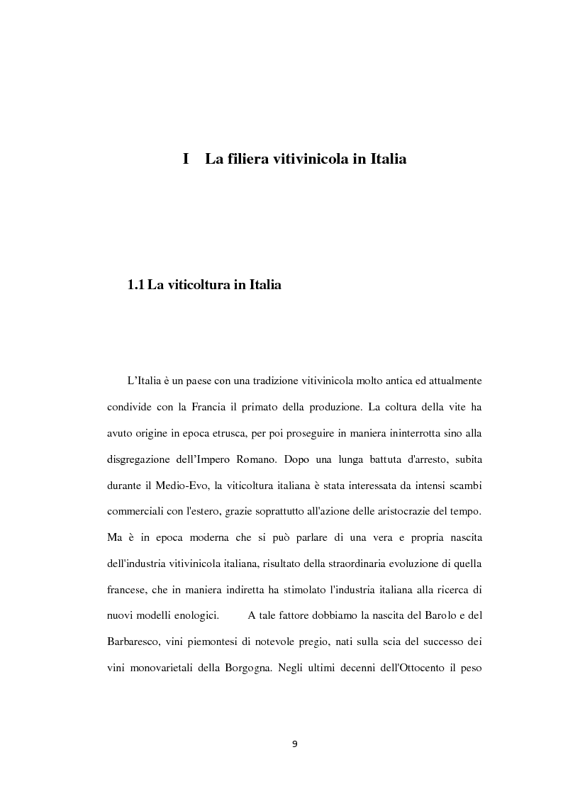 Anteprima della tesi: La filiera vitivinicola campana, Pagina 1