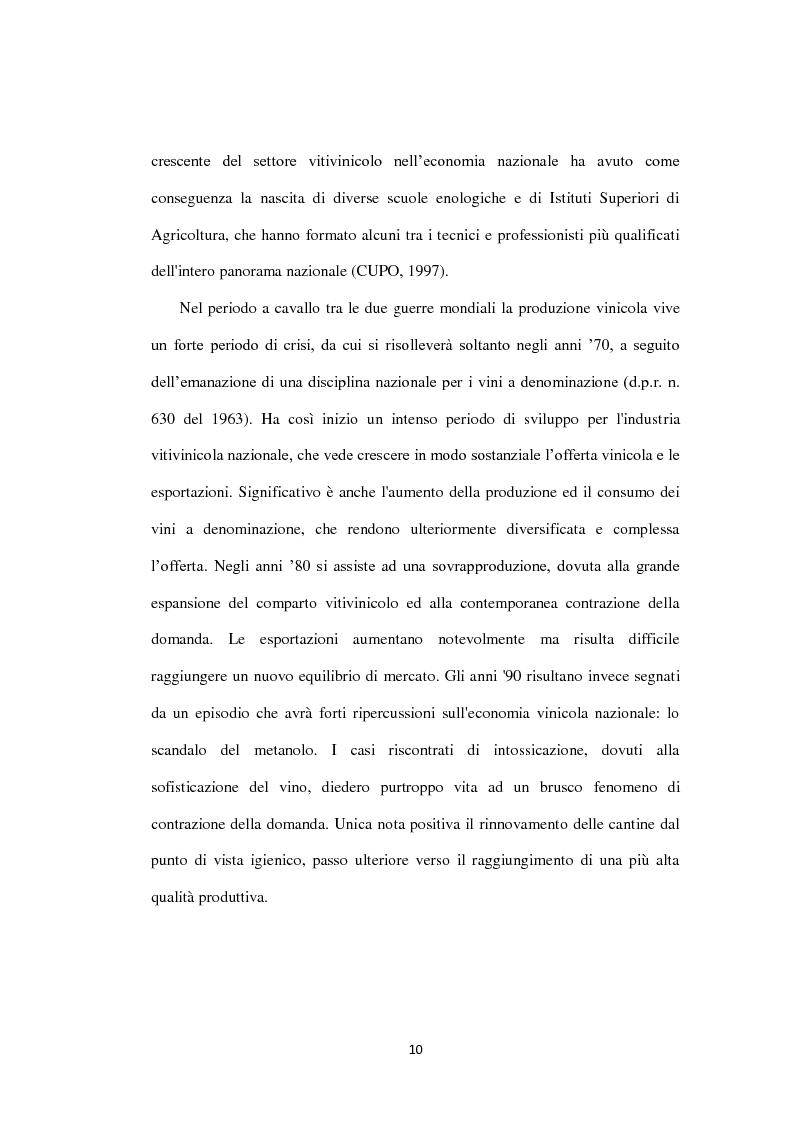Anteprima della tesi: La filiera vitivinicola campana, Pagina 2