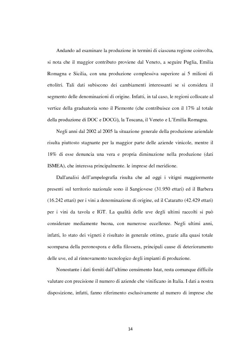 Anteprima della tesi: La filiera vitivinicola campana, Pagina 6