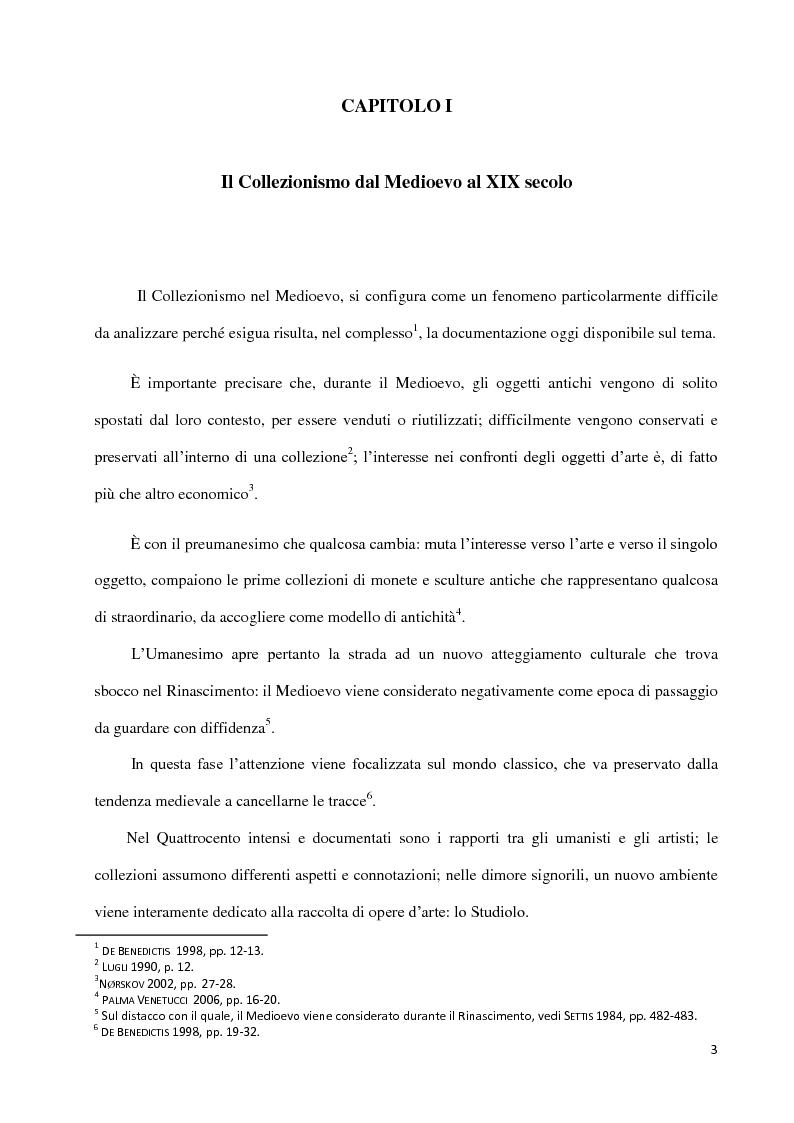 Anteprima della tesi: Dal collezionismo ai ''Tesori Restituiti'', Pagina 3