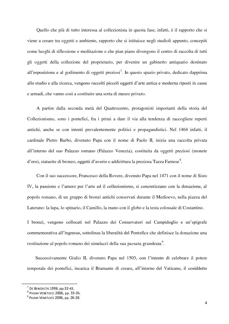Anteprima della tesi: Dal collezionismo ai ''Tesori Restituiti'', Pagina 4