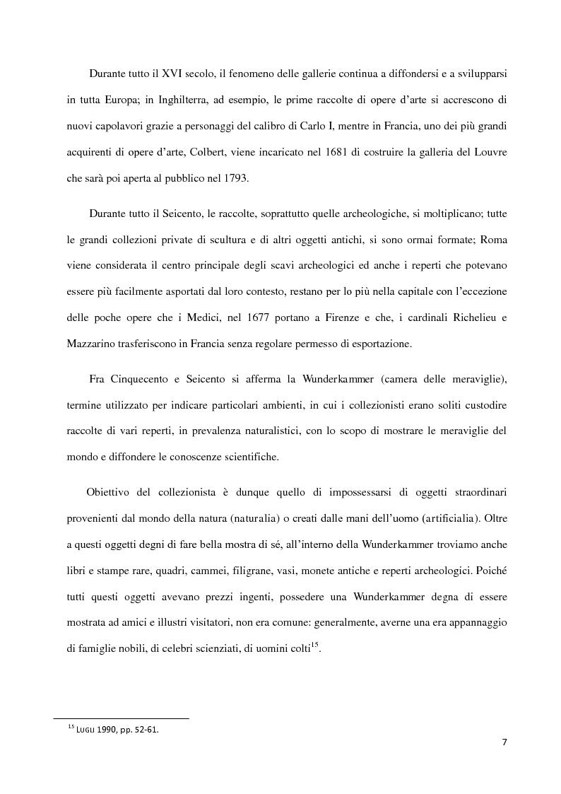 Anteprima della tesi: Dal collezionismo ai ''Tesori Restituiti'', Pagina 7