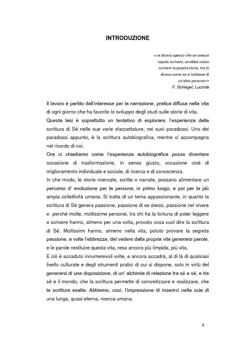 Anteprima della tesi: Autobiografia come progetto identitario, Pagina 1