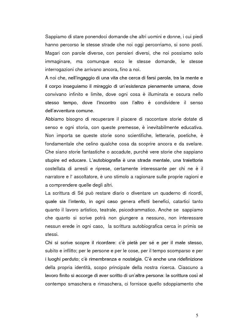 Anteprima della tesi: Autobiografia come progetto identitario, Pagina 2
