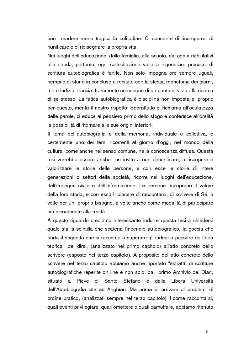 Anteprima della tesi: Autobiografia come progetto identitario, Pagina 3