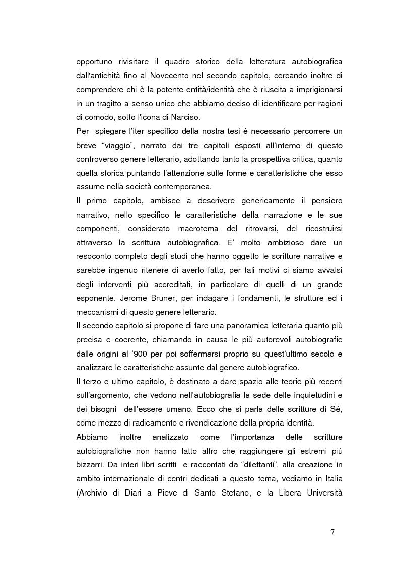 Anteprima della tesi: Autobiografia come progetto identitario, Pagina 4