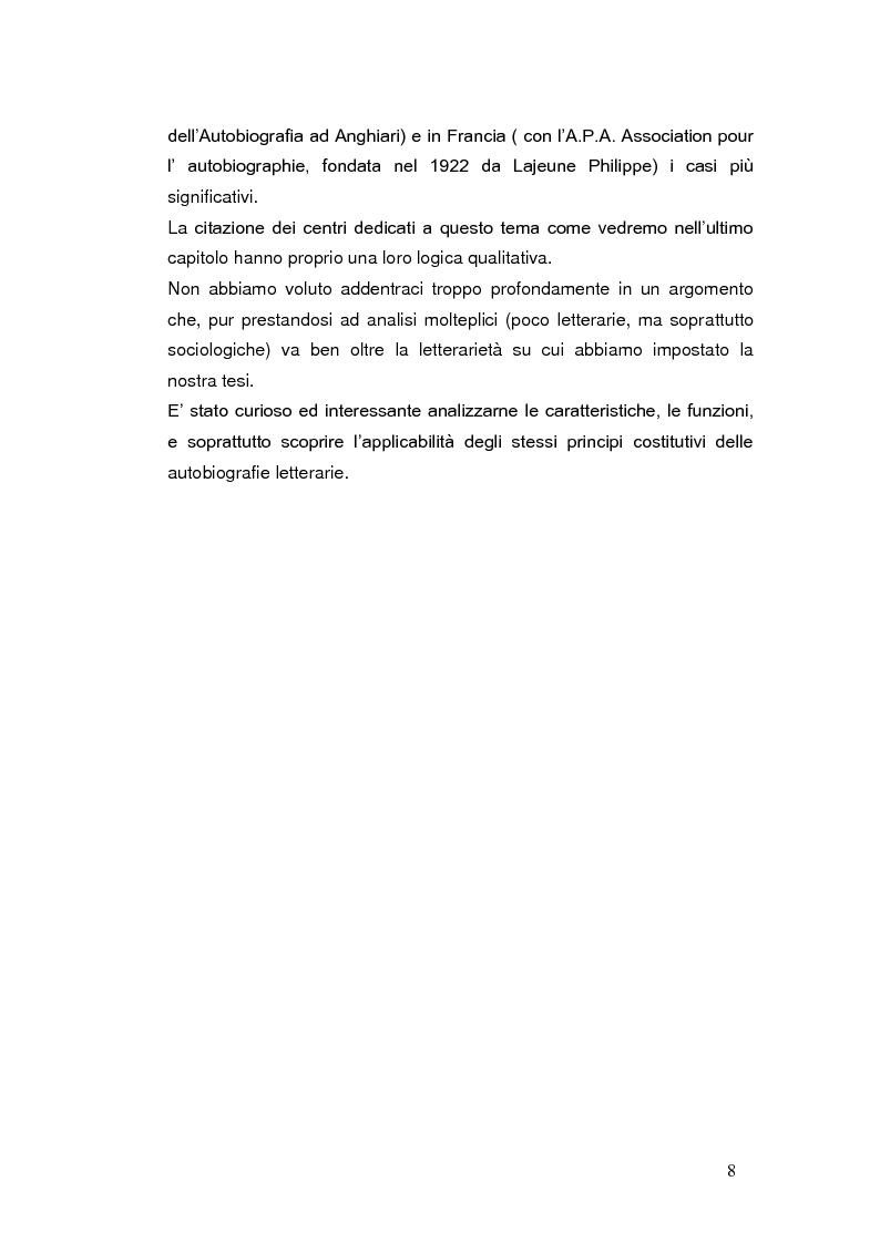 Anteprima della tesi: Autobiografia come progetto identitario, Pagina 5