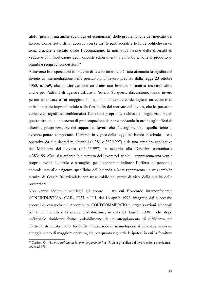 Anteprima della tesi: Quando il lavoro è ''somministrato''. Analisi etnografica presso l'Alai-Cisl di Trento. , Pagina 10