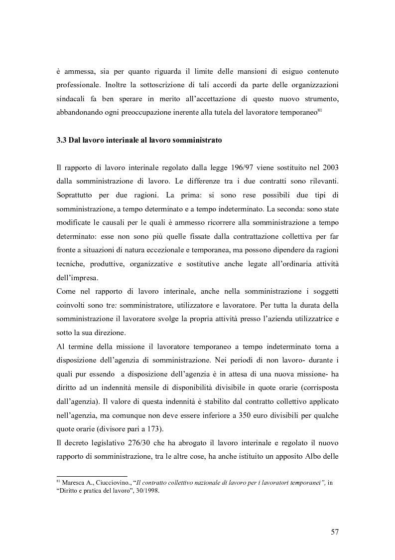 Anteprima della tesi: Quando il lavoro è ''somministrato''. Analisi etnografica presso l'Alai-Cisl di Trento. , Pagina 11