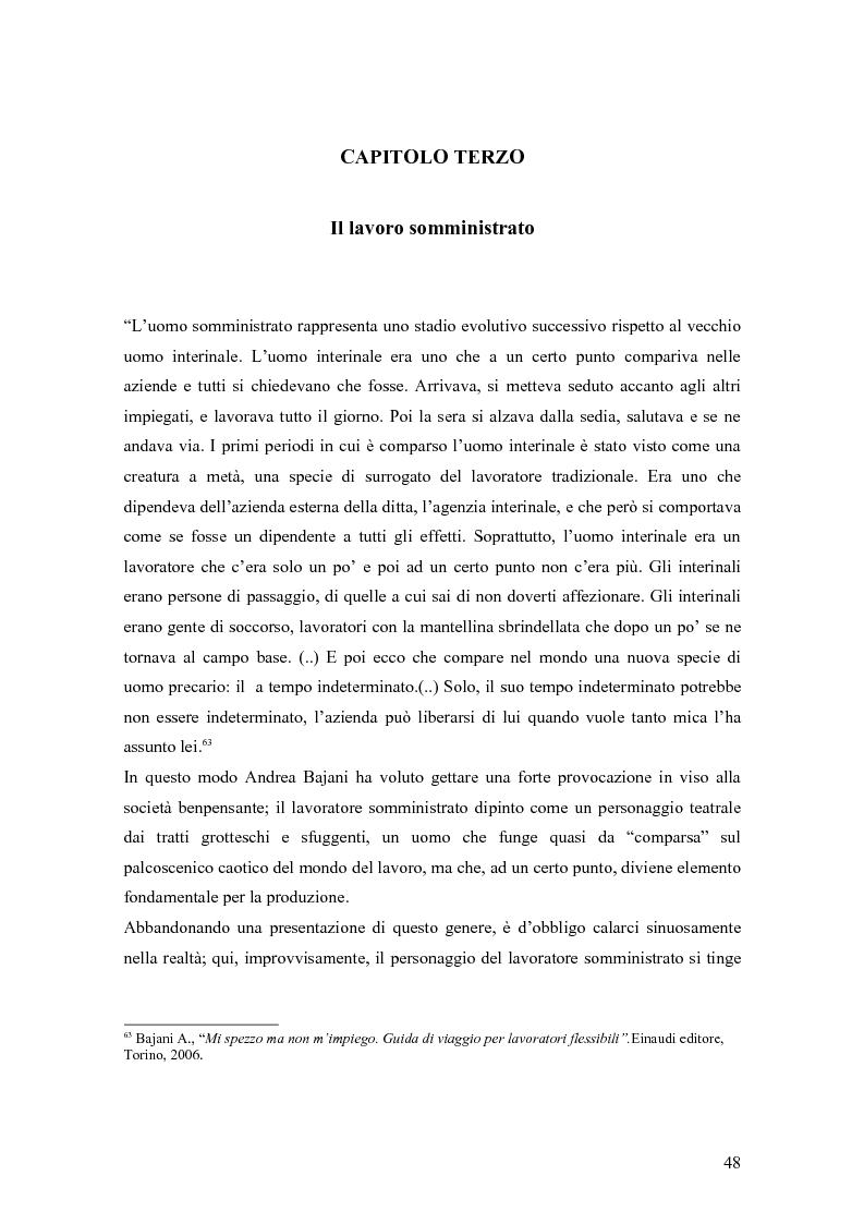 Anteprima della tesi: Quando il lavoro è ''somministrato''. Analisi etnografica presso l'Alai-Cisl di Trento. , Pagina 2