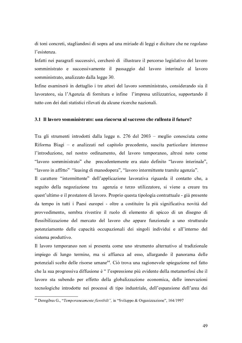 Anteprima della tesi: Quando il lavoro è ''somministrato''. Analisi etnografica presso l'Alai-Cisl di Trento. , Pagina 3