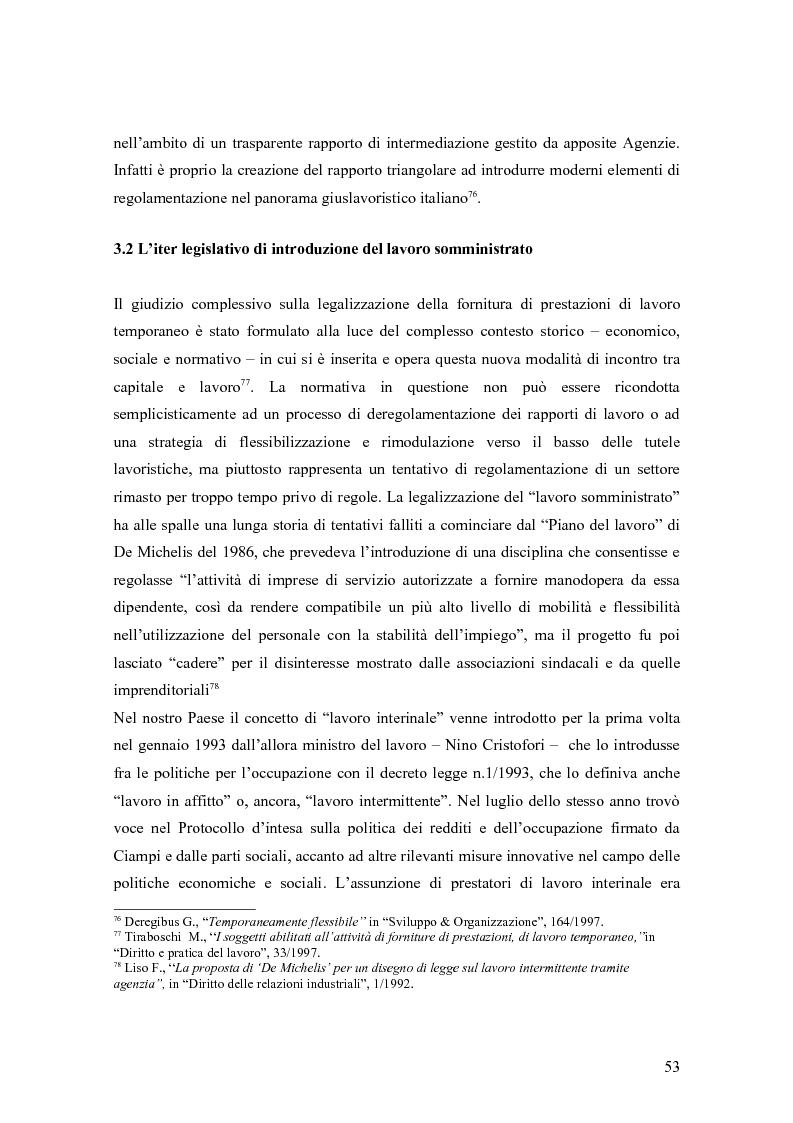 Anteprima della tesi: Quando il lavoro è ''somministrato''. Analisi etnografica presso l'Alai-Cisl di Trento. , Pagina 7
